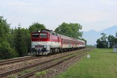 757 011-2 (marekstokosa1) Tags: ćkd kolej slovak republic kostany nad turcom train osobni railway zelaznica zssk nurek brejlovec 757 7570112 011 0112