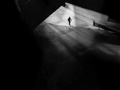 ... gone... (*ines_maria) Tags: monochrome bw station gh5 panonic man transport street perspective urbanexploration travel portugal bridge lissabon lisboa silhouette lonely spot light darkness