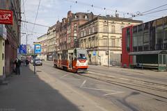 Slinks linksaf in Świętochłowice (Tim Boric) Tags: świętochłowice katowicka tram tramway streetcar strassenbahn tramwaj interurban vicinal überlandbahn ztm