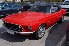 1969 Ford Mustang Coupé Grandé Front (Joachim_Hofmann) Tags: auto fahrzeug verbrennungsmotor ottomotor ford mustang musclecar uscar strasenkreuzer