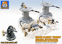 Lego-Hoth-Turret-Defense-Instructions (baronsat) Tags: lego star wars hoth ice world planet esb rebel alliance empire base battle radar cannon turret kenner toy micro collection echo custom model moc building instructions minifigures