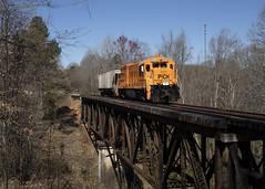 Broadway Creek (The Industrial Railfan) Tags: elchlok theindustrialrailfan henrydell railway railroad train shortline pickensrailroad pickensrailway pick u18b