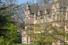 Trinity College, Oxford (baldychops) Tags: oxford oxfordshire city outdoor spring sunshine sun history historic visit visitor university college town famous trinity trinitycollege building architecture tree trees sky bluesky