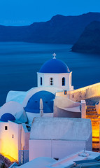 _MG_9936 - Orthodox churches of Santorini #5 (AlexDROP) Tags: 2017 europe greece santorini oia greek sea travel color city urban cityscape church orthodox longexposure bluehour architecture mill skyline canon6d ef241054lis best iconic famous mustsee picturesque postcard