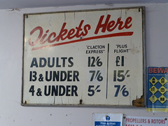 Cheap Flying at Clacton (piktaker) Tags: essex clacton clactonairfield egsq oldsign tickets fares prices clactonaeroclub