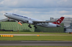 TURKISH AIRLINES TC-JOJ Airbus A330-303 departure from Manchester MAN England UK bound for Istanbul ISL Turkey (Cupertino 707) Tags: turkish airlines tcjoj airbus a330303 departure from manchester man england uk bound for istanbul isl first flight date 18062015 30062015 thy turkishairlines turkey