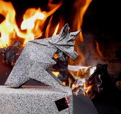 fireproof (-sebl-) Tags: notredame cathedrale gargoyle gargouille sebl fire origami stone sculpture paper