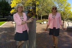 Why Do I Like To Wear Women's Clothes? (Laurette Victoria) Tags: pink sweater sweaterset blonde woman laurette sunglasses composite skirt necklace