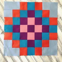 do. Good Stitches (bulabean) Tags: do stitches dogoodstitches quiltblock checkeredgardenquilt