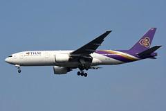 "Thai Airways HS-TJR ""Nakhon Sawan"" (Howard_Pulling) Tags: thai airways thailand landing bangkok bkk phoenixhotel"