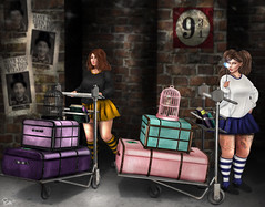 Anna&May-#1 (ButterCup Arcana) Tags: second life photography photoshop sexy friends harry potter hogwarts magical cute photos sl
