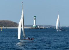Ost(er)wind- wind from east(er) (Anke knipst) Tags: möltenort kiel segelschiffe leuchtturm lighthouse förde sea sailingboat falkenstein germany schleswigholstein