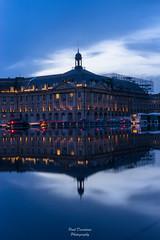 Miroir de CCI (PaaulDvD) Tags: bordeaux couleurs aquitaine gironde city cityscape urban night blue hour
