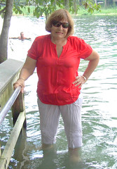 Rainbow River (clarkfred33) Tags: rainbowriver river florida water wade swim swimwear redandwhite adventure wetadventure wetlook wetwoman wetclothes wetfun dunnellon scenic nature