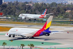 B787 N834AA + A380 HL7641 Los Angeles 22.03.19 (jonf45 - 5 million views -Thank you) Tags: airliner civil aircraft jet plane flight aviation lax los angeles international airport klax american airlines boeing 7879 n834aa asiana airbus a380 hl7641