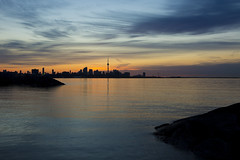 Spring Feels (CJ Burnell) Tags: toronto water skyline silhouette the6ix 6ixwalks lake ontario morning sunrise sky skywatching clouds cloudporn views blogto landscape cityscape yourstodiscover canada quiet calming dawn sun sunny ripples reflections torontoguardian photography photographer canadian humberbayeastpark 416 647 instagramcjbphotography1