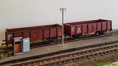 Modelbouw Boerman Güterwagen (Stefan's Gartenbahn) Tags: modelbouw boerman modellbau güterwagen dr ommu 400 gealtert es5520 90060004 regelspur 64mm spur2