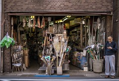 Storefront of a hardware store (shinyahirata) Tags: store candid tokyo japan people street