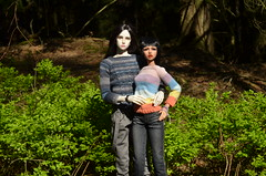 Normani and Chris (JL_the_Lion) Tags: normaniandchris bjd 13 sd doll dollmore keely sum model f tan skin my normani dollshe craft bernard chris outdoor spring sun forest wood couple knitwear sweater kulukala art etsy jewelry raven666 bazikotek