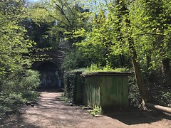 Crescent Wood Tunnel, Crystal Palace High Level branch (looper23) Tags: crystal palace high level branch railway disused crescent wood tunnel cox walk footbridge dulwich london april 2019 rail