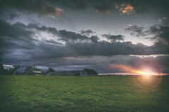 Farm Sunset (nigdawphotography) Tags: sunset farm arable trimmsgreen hertfordshire