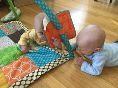 """Sam and Luc Have Tummy Time • <a style=""""font-size:0.8em;"""" href=""""http://www.flickr.com/photos/109120354@N07/40684257663/"""" target=""""_blank"""">View on Flickr</a>"""
