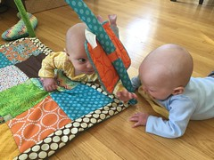 """Sam and Luc Have Tummy Time • <a style=""""font-size:0.8em;"""" href=""""http://www.flickr.com/photos/109120354@N07/40684259053/"""" target=""""_blank"""">View on Flickr</a>"""