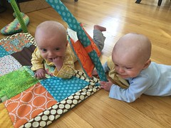 """Sam and Luc Have Tummy Time • <a style=""""font-size:0.8em;"""" href=""""http://www.flickr.com/photos/109120354@N07/40684260543/"""" target=""""_blank"""">View on Flickr</a>"""