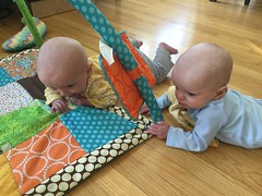"""Sam and Luc Have Tummy Time • <a style=""""font-size:0.8em;"""" href=""""http://www.flickr.com/photos/109120354@N07/40684262903/"""" target=""""_blank"""">View on Flickr</a>"""