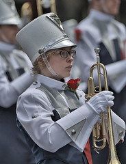 Trumpeter (Scott 97006) Tags: uniform girl female trumpet brass rose hat band musician marching