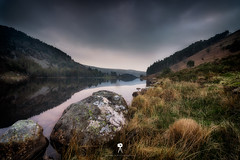Llyn Geirionydd II (Mark Palombella Hart) Tags: nature landscape beautiful clouds scenic tourism wales photographer photooftheday potd photo hills rivers streams rocks sky sunset path stonewall mountains lake historic snowdonia trees farm cottage