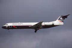 F-GIOA Gatwick 9-10-1998 (Plane Buddy) Tags: fgioa fokker 100 tat ba britishairways lgw gatwick