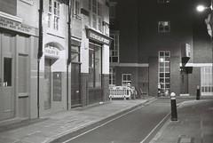 London (goodfella2459) Tags: nikonf4 afnikkor50mmf14dlens ilforddelta400 35mm blackandwhite film analog night city london streets building lights buildings road bwfp