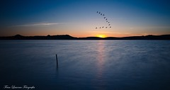 Time (franlaserna) Tags: nature reflection landscape sunrise sunset sun lake