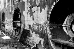 (pollution lumière) Tags: leica leicaflex sl2 summicronr50f2 kodaktrix400 blackwhitefilm blackwhite bwfp blancoynegro blancetnoir blackandwhitefilm abandoned belleisle richmond alteseinauge