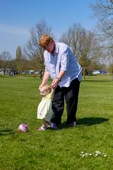 Playing football with Nana (timnutt) Tags: parkland xt2 northampton northamptonshire wicksteedpark children child people fuji 35f2wr park toddler 35mm fujifilm kettering