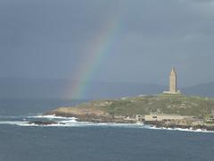 P1050270 (jesust793) Tags: hercules coruña arcoiris rainbow faro mar costa