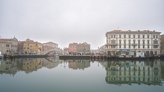 chioggia (Roberto.Trombetta) Tags: italy italia reflection gato bridge fog winter boat fishing house pellestrina island home still chioggia veneto lagoon laguna acqua sony 7rii alpha batis zeiss carlzeiss art fineart amazing stunning beautiful landscape paesaggio 7rm2 peaceful calma quiet calm wood wooden mist haziness misty foschia legno surreal batis225 25 water sky piazzetta vigo