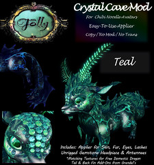 Folly_NoodleMod_CrystalCaveAdTeal (Cane's Folly SL) Tags: cane sutter second life chibi noodle avatars texture mod crystal cave