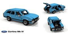 Ford Cortina MkIV Wagon (lego911) Tags: ford motor company cortina mkiv mk4 wagon 1976 1970s classic europe auto car moc model miniland lego lego911 ldd render cad povray afol estate