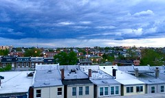 Petworth Rooftop View (Mr.TinDC) Tags: dc washingtondc petworth roofs roof sky clouds