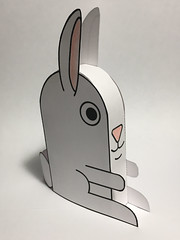 Bunny papercraft (D Laferriere) Tags: bunny rabbit papercraft easter laferriere attleboro paper craft paste fold cut color pdf