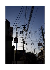 Kyoto 5 (g.finzi) Tags: powerlines bluehour wires street dusk japan kyoto wideangle nikonz35mm18 nikonz7