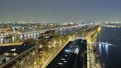 Nightly Amsterdam skyline (Frank van de Velde) Tags: amsterdam ij waterway night nightshot nightscape nightcapture knsmeiland javaeiland ijhaven
