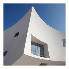 P1160198 (ernsttromp) Tags: spain olympus omd em10 918mmf456 microfourthirds mirrorless m43 mft building architecture closeup square border 1x1 2019 white blue facade curve window sky murcia auditorium aguilas urban theater mzuiko contemporary espana