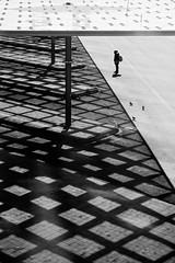 Humans and pigeons (Guido Klumpe) Tags: spiegelung mirror reflection minimal minimalism minimalistisch simple reduced kontrast contrast gegenlicht shadow schatten silhouette candid street streetphotographer streetphotography strase hannover hanover germany deutschland city stadt streetphotographde unposed streetshot gebäude architecture architektur building perspektive perspective