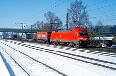 182 024  Nannhofen  20.02.03 (w. + h. brutzer) Tags: nannhofen 182 taurus eisenbahn eisenbahnen train trains deutschland germany elok eloks lokomotive locomotive zug db nikon webru analog