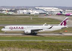 Qatar Airways A350-900 F-WZHD (A7-AMJ) (birrlad) Tags: toulouse tls airport france aircraft aviation airplane airplanes airline airliner airlines airways taxi taxiway airbus a350 a359 a350900 a350941 qatar fwzhd a7amj rto