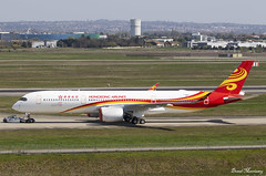 Hong Kong Airlines A350-900 F-WZNC (B-LGI) (birrlad) Tags: toulouse tls airport france aircraft aviation airplane airplanes airline airliner airlines airways taxi taxiway airbus a350 a359 a350900 a350941 hongkong fwznc blgi tow
