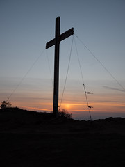 Happy Easter... (Lee Harris Photography) Tags: landscape cross religion portrait sky sunset sun cloud contrast outdoor orange evening easter uk yorkshire lumixg9 silhouette night tranquil scene scenic beautiful panasonic nofilter
